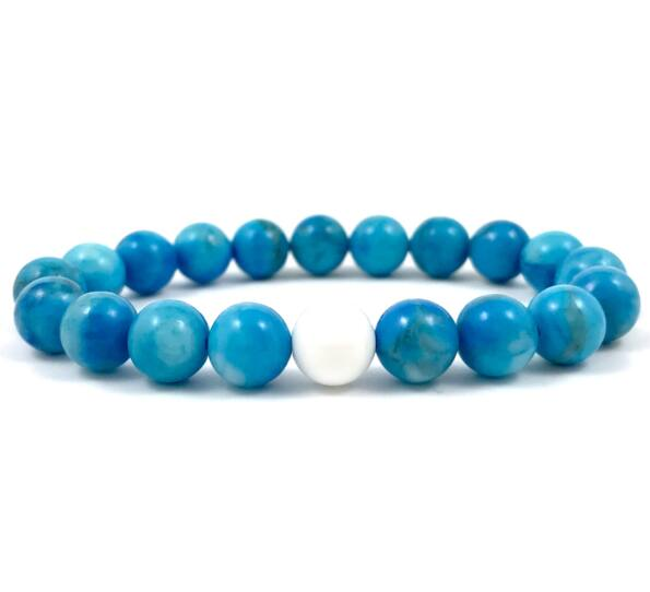 Turquoise and nacre fleck pearl bracelet