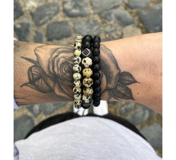 Dalmata jasper bracelet