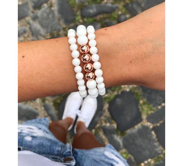 Matte jasper gold luxury bracelets