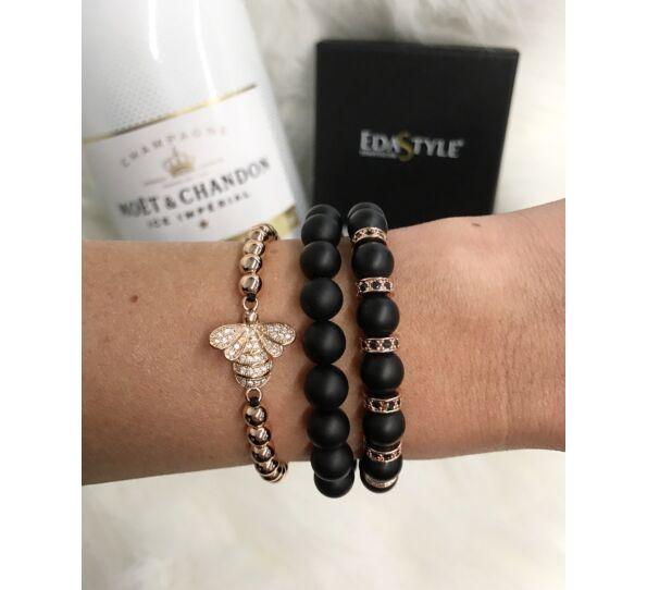 Matte onyx rosegold luxury bracelets