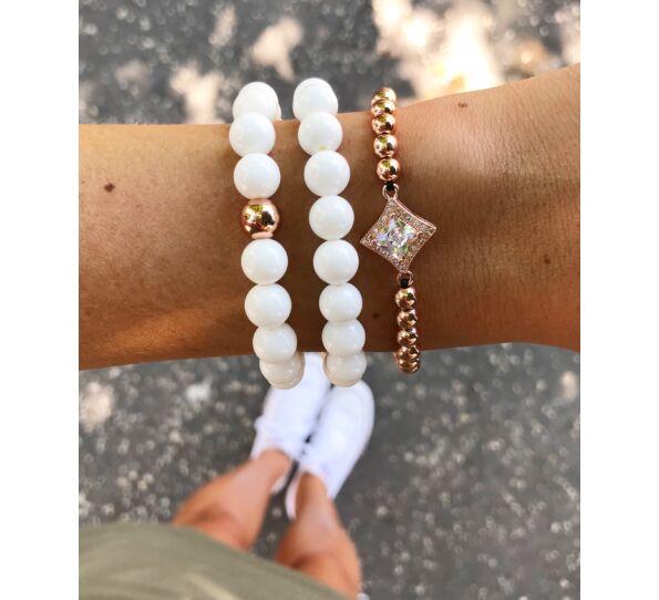 Milk quartcz rosegold luxury bracelets