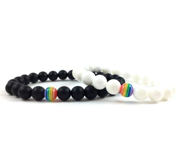 Evene matt onyx rainbow bracelet