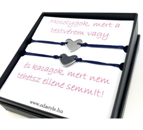 Sister bracelets blue