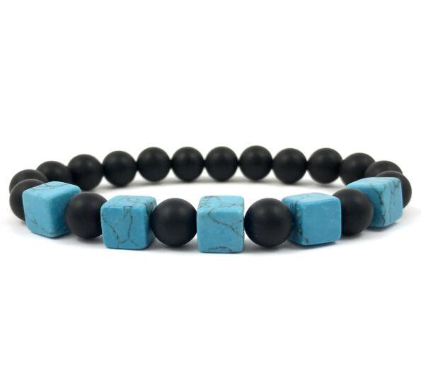 Matte onyx turquoise bracelet