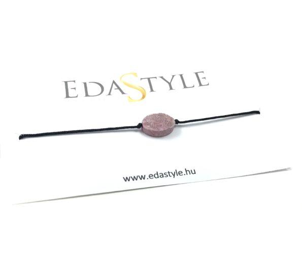 Rózsaszín kristályos zsineg karkötő