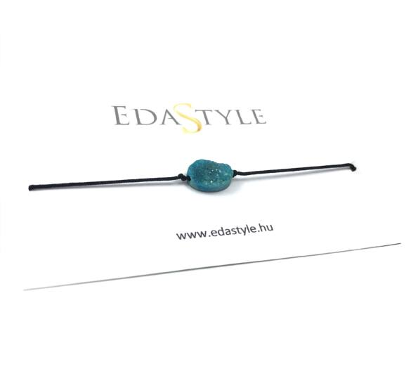 Kék kristályos zsineg karkötő