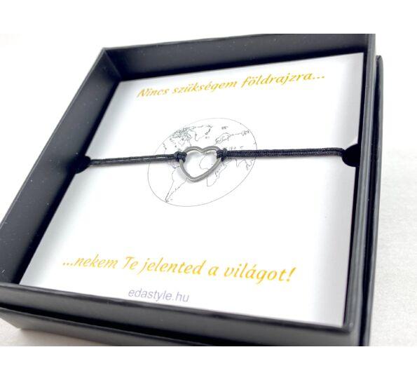 Silver heart love bracelet