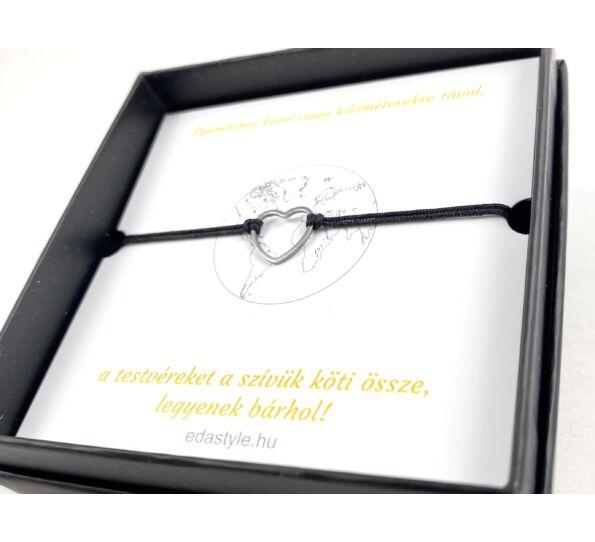 Sister silver heart bracelets