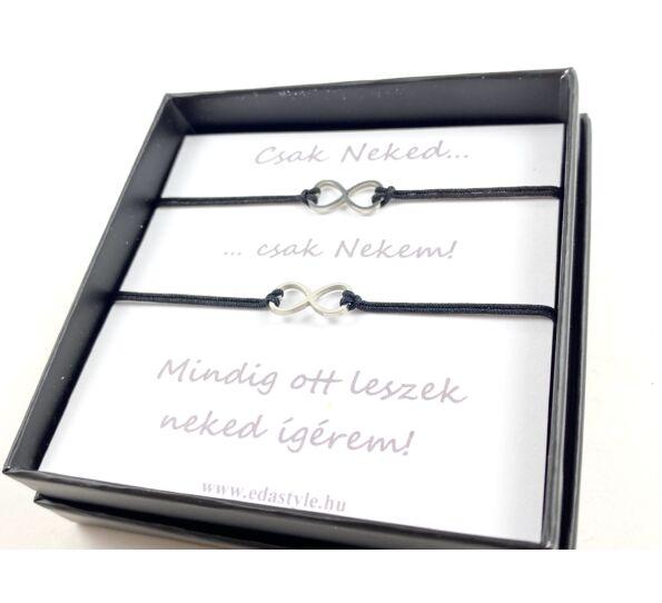 Couple bracelets black
