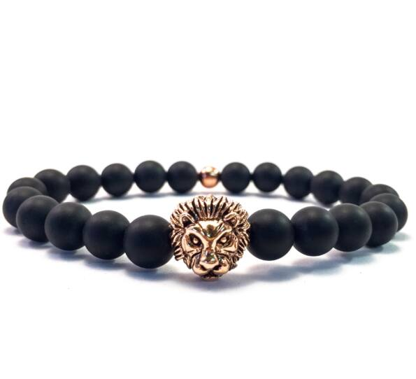 Rose lion bracelet