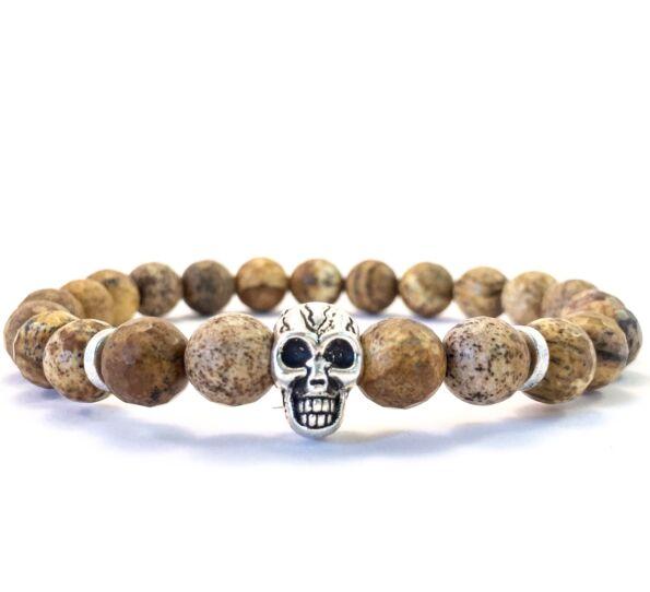 Jaspis skull bracelet