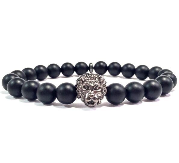 Hematite lion bracelet