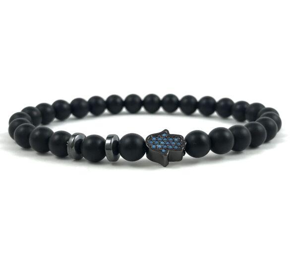 Matte onyx black bracelet