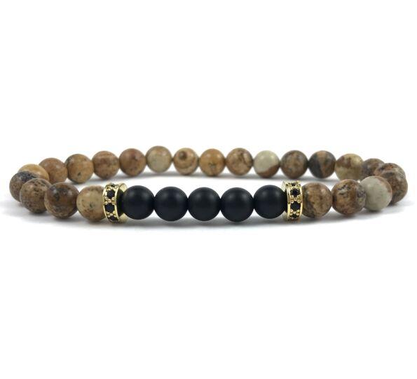 Jasper gold ring bracelet