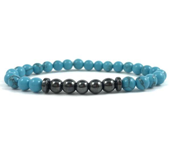 Türkid hematite pearl bracelet