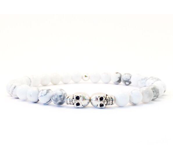 Howlite mini skull bracelet
