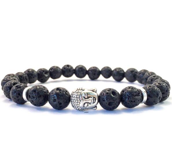 Lava buddha bracelet
