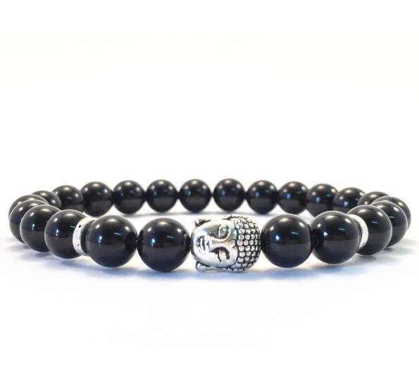 Onyx buddha bracelet