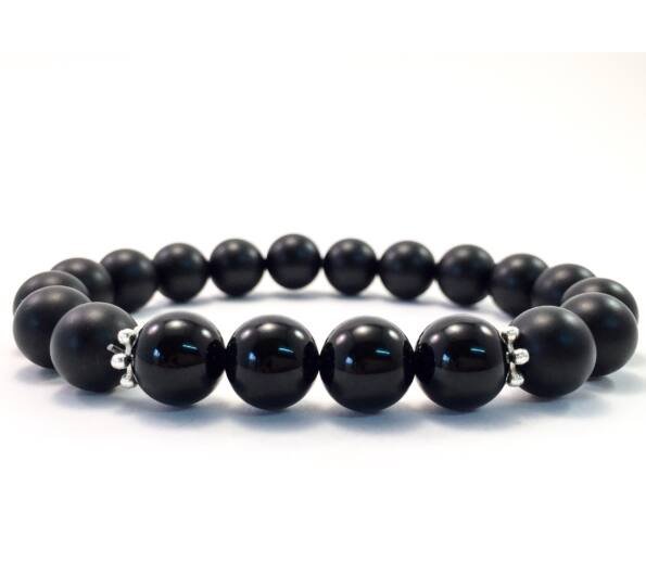 Matte and shine onyx 10mm bracelet FF