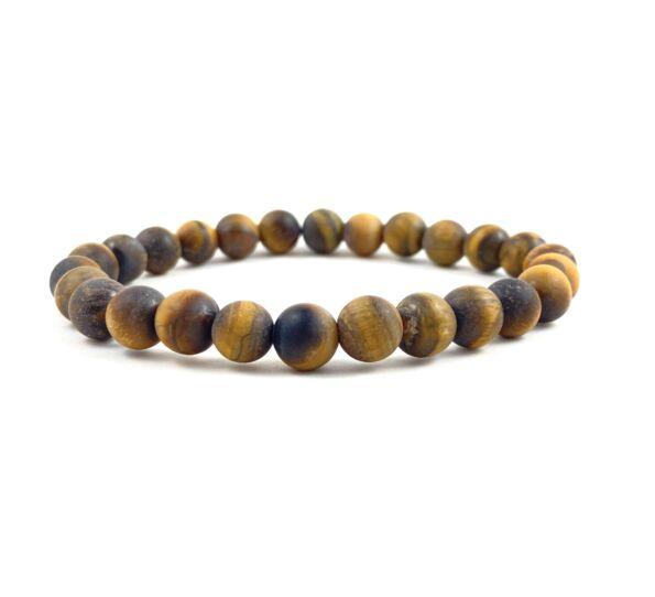 Matte onyx with rainbow pearl bracelet