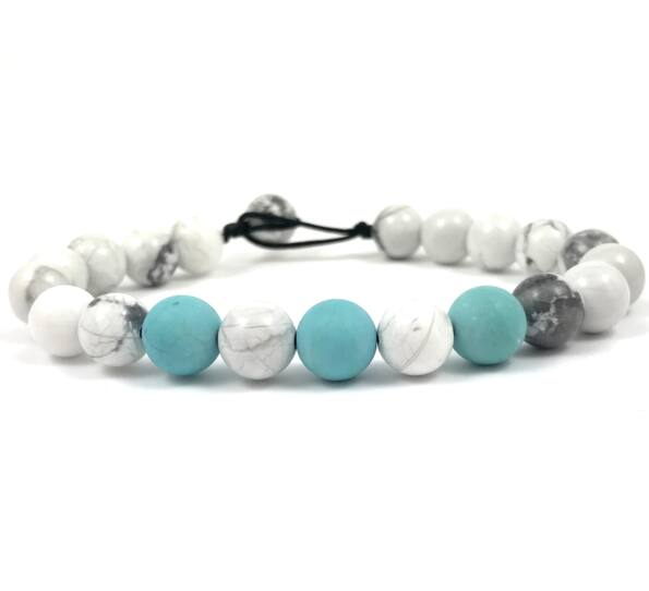 Howlite and turquoise beach bracelet