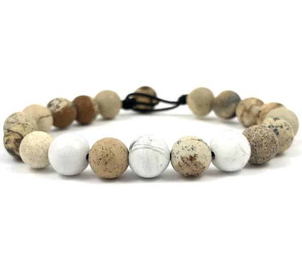 Jasper and howlite beach bracelet