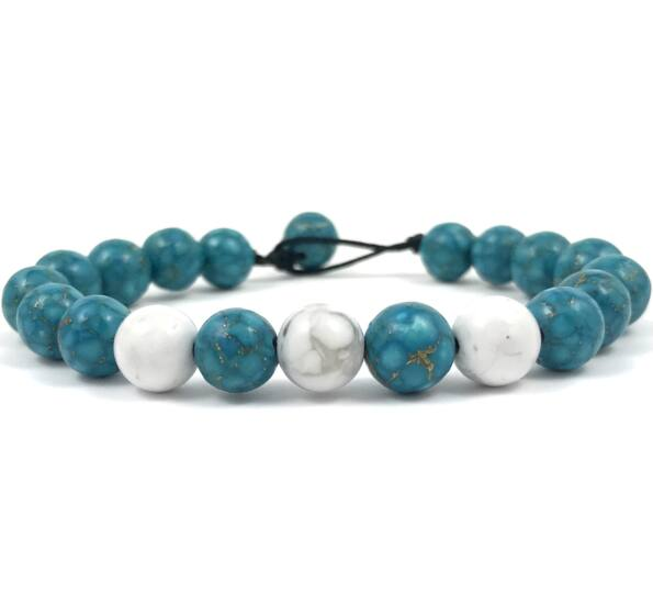 Turquoise and howlit beach bracelet