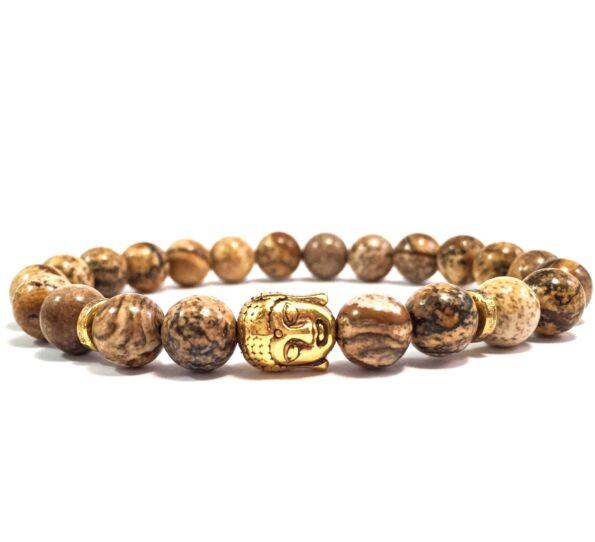 Jaspis gold buddha bracelet