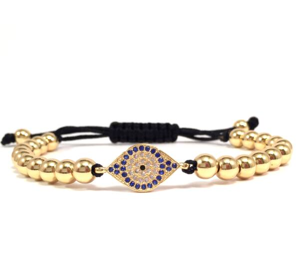 Luxury gold eye cord bracelet
