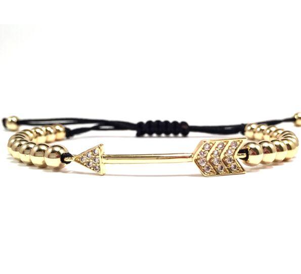 Luxury arany nyilas cord karkötő