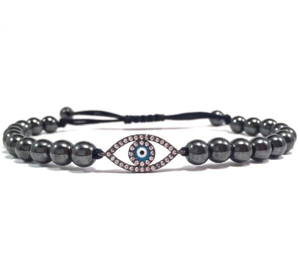 Luxury titan blue eye cord bracelet