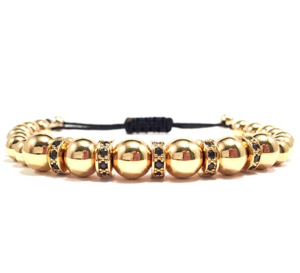 Luxury gold rondel cord bracelet