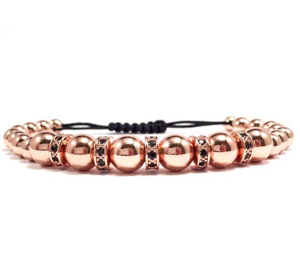 Luxury rozé rondeles cord karkötő