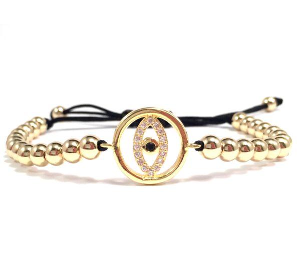 Luxury arany szemes cord karkötő 3
