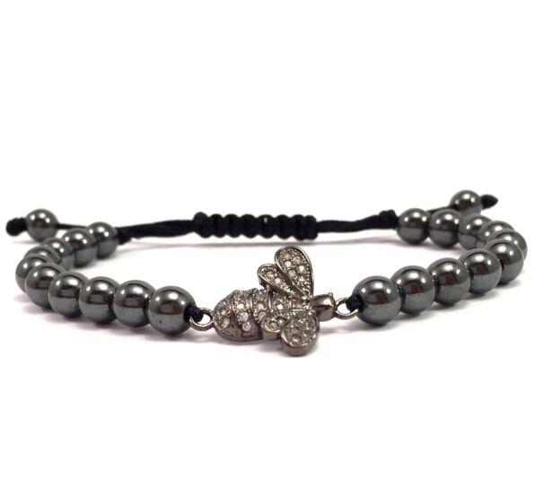 Luxury titan bee cord bracelet