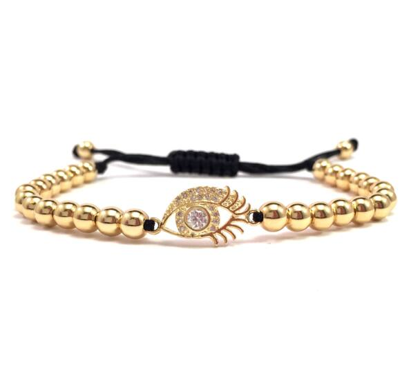 Luxury arany szem cord karkötő (3)