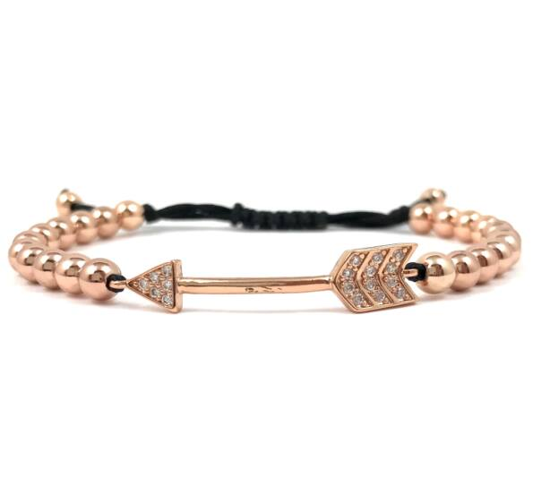 Luxury rose gold arrow cord bracelet