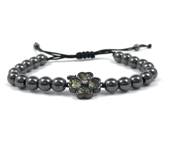 Luxury titan clover cord bracelet