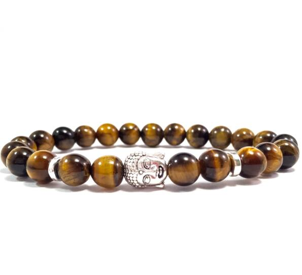 Tiger's eye buddha bracelet